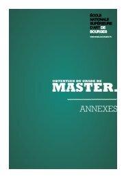 master. - ensa Bourges