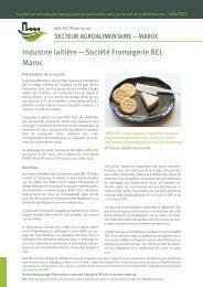Industrie laitière — Société Fromagerie BEL Maroc - unido