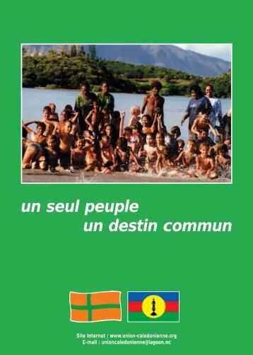 Programme de l'UC vert - UNION CALEDONIENNE