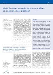 Maladies rares et médicaments orphelins: un ... - Orphanet Suisse