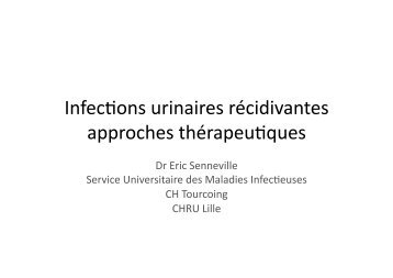 Infections urinaires récidivantes