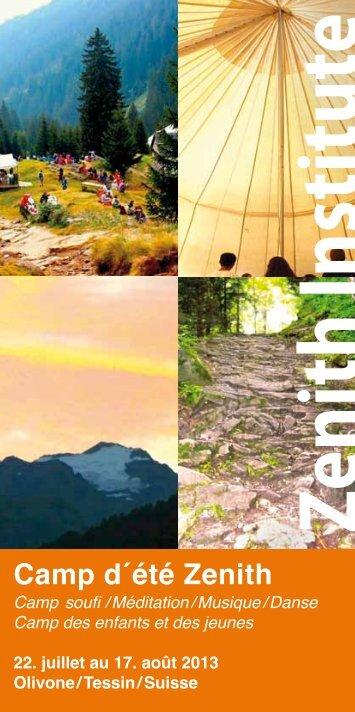 La brochure du camp 2013 (pdf) - Zenith Institute