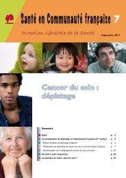 Cancer du sein - Direction générale de la santé de la Communauté ...
