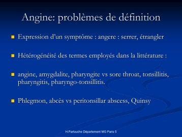 Angine - Infectiologie