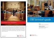 UBS investor's guide - Haussmann Patrimoine