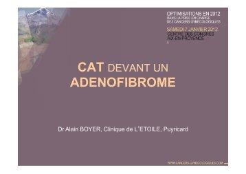 BOYER CAT DEVANT UN adenofibrome