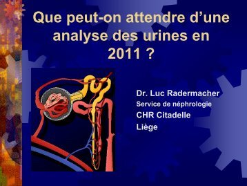 L'analyse des urines en medecine generale 2011 - Bienvenue au ...