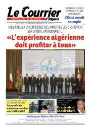 Numéro° 2769 du mercredi 10 avril 2013 - Le Courrier d'Algérie