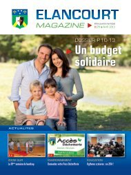 Elancourt Magazine Avril
