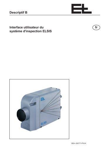 Descriptif B Interface utilisateur du système d ... - Erhardt+Leimer
