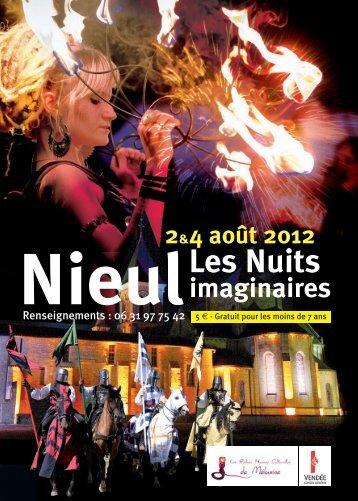 Télécharger le tract Nieul, les nuits imaginaires - Sud Vendée tourisme
