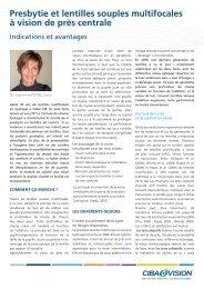 Presbytie et lentille a VPC - Cibavisionacademy.fr