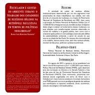 6.MARQUES, M.I.M - Reciclagem e gestão do ... - Diversitas - USP