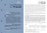 Les Mondes du Travail - Site personnel de Gérard Creux