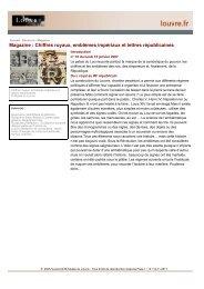 Chiffres royaux, emblèmes impériaux et lettres ... - Musée du Louvre