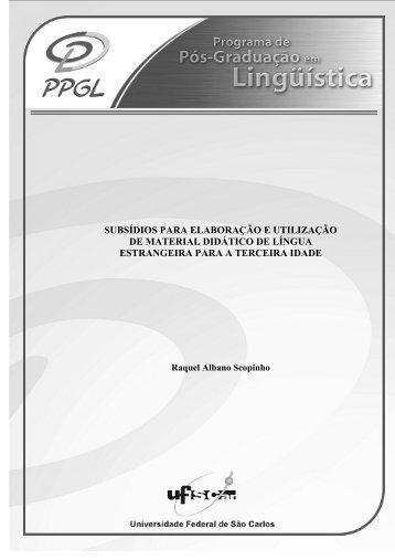 subsídios para elaboração e utilização de material ... - PPGL - UFSCar