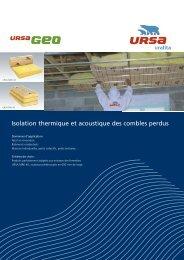 Isolation thermique et acoustique des combles perdus URSA ...