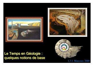 Le Temps en Géologie