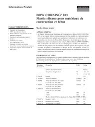 DOW CORNING® 813 Mastic silicone pour ... - Bestekservice