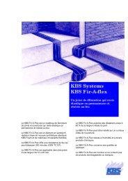 Le KBS Fir-A-Flex est un matériau de fermeture de ... - Fire-Proof bvba