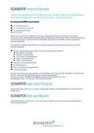 SCHAEFER Research Tools - SCHAEFER market research