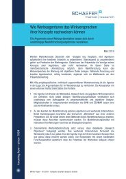 White Paper Download (PDF, 104 Kb) - SCHAEFER market research