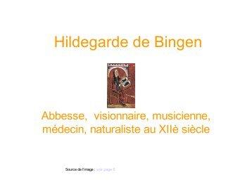 diaporama présentant Hildegarde de Bingen
