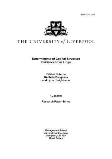Determinants of Capital Structure: Evidence from Libya - CiteSeerX