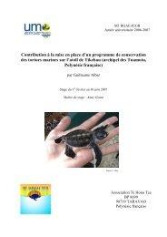 Contribution à la mise en place d'un programme de conservation ...