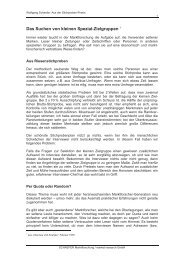 Das Suchen von kleinen  Spezial-Zielgruppen 1 - Schaefer market ...