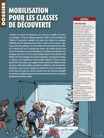 MOBILISATION POUR LES CLASSES DE DÉCOUVERTE - ANEM