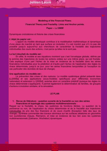 P 06 Synopsis Financial Theory and Fractality - Site en francais de ...