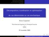 Décomposition/coordination en optimisation : du cas déterministe au ...