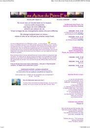 2009-02-04 Les Actus du Bien-Etre.pdf - Flocris, les chemins du ...