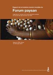 Forum paysan - IFAD