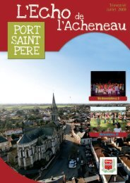 juillet 2009 - Mairie de Port-Saint-Père