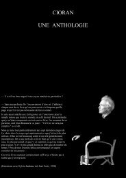 Cioran - Une Anthologie - Oeuvres ouvertes