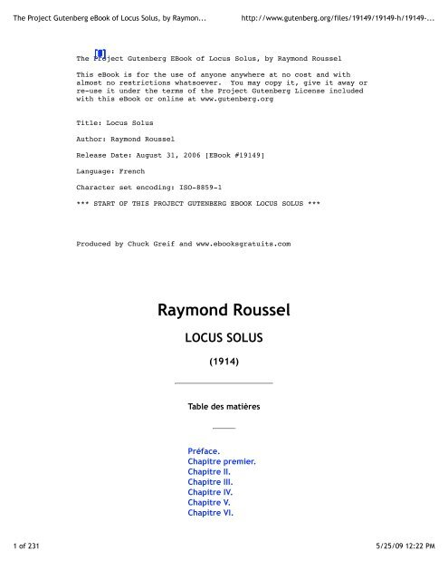 Project Of Locus The Raymond Gutenberg Roussel SolusBy Ebook ALq35jc4RS