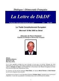 Dialogue Démocratie Française La Lettre de D&DF - my.weblet.biz