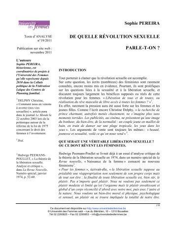 Télécharger le pdf - Université des Femmes