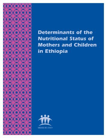 Determinants of the Nutritional Status of Mothers ... - Measure DHS