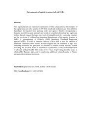 Determinants of capital structure in Irish SMEs Abstract This paper ...