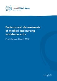 Patterns and determinants of medical and nursing workforce exits