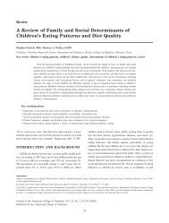 A Review of Family and Social Determinants of Children's Eating ...