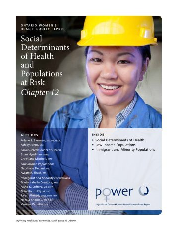 Social Determinants of Health and Populations at Risk Chapter 12