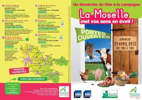 Portes ouvertes 2012 chambre d 39 agriculture de la moselle - Chambre d agriculture de la manche ...