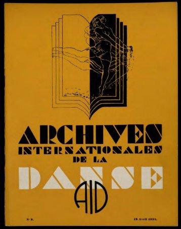 the dancing times - Médiathèque du Centre national de la danse