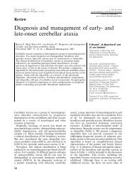 Diagnosis and management of early- and late-onset cerebellar ataxia