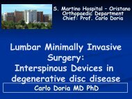 Interspinous Devices in degenerative disc disease