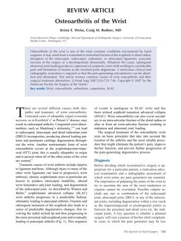 review content osteoarthritis